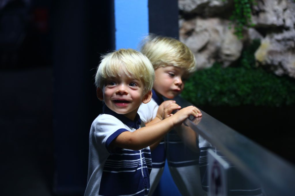 twins in oceanarium